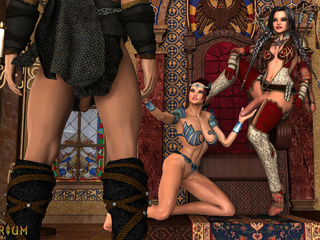 Majestic 3D shemale sex in the classic castle - Picture 1