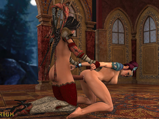 Majestic 3D shemale sex in the classic castle - Picture 2