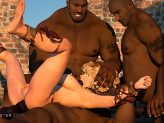 Giant blacks drills a slender 3D blonde in hardcore - Picture 4