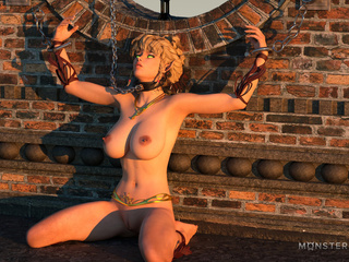 Dick-loving 3D blonde and multiple black sausages - Picture 1