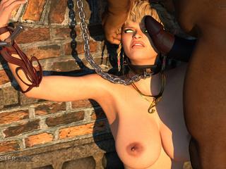 Dick-loving 3D blonde and multiple black sausages - Picture 2