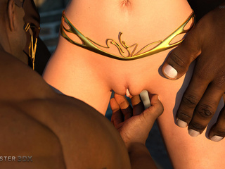 Dick-loving 3D blonde and multiple black sausages - Picture 5
