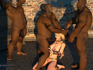 Three huge blacks dicks VS passionate young blonde - Picture 5