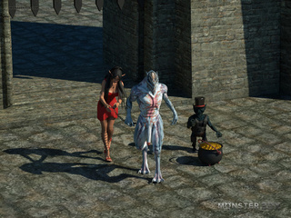 Satanic beasts pounds an elegant 3D goddess - Picture 1