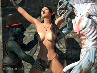 Satanic beasts pounds an elegant 3D goddess - Picture 2