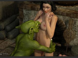 Amazingly sexy big boobed brunette enjoys leprechauns - Picture 5