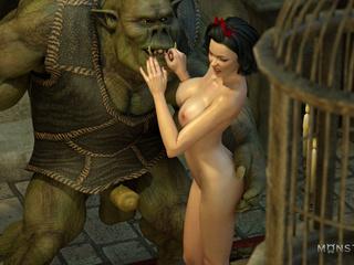 Godlike brunette gets her pussy banged by 3D monster - Picture 1