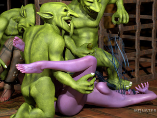 Godlike purple fairy have nasty fun with green - Picture 2