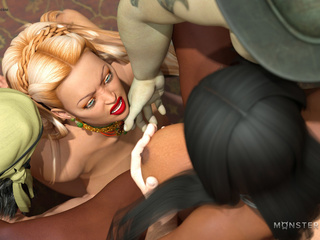 Horny pirates and monsters bangs two busty 3D - Picture 5