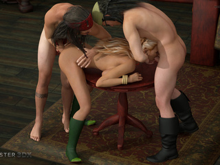 Hardcore 3D sex action with pirates and slender babes - Picture 2