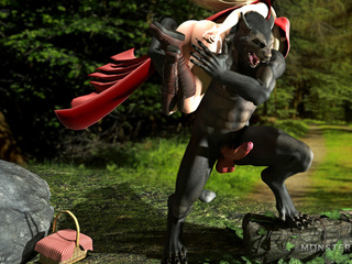 Little Red Riding Hood gets kidnapped and banged - Picture 1