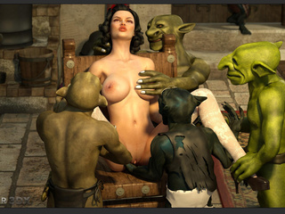 Filthy as hell 3D leprechauns nailed a brunette - Picture 2