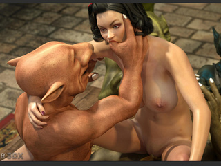 Filthy as hell 3D leprechauns nailed a brunette - Picture 3
