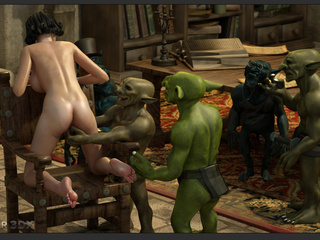 Filthy as hell 3D leprechauns nailed a brunette - Picture 4