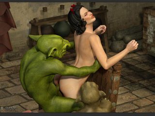 Filthy as hell 3D leprechauns nailed a brunette - Picture 6