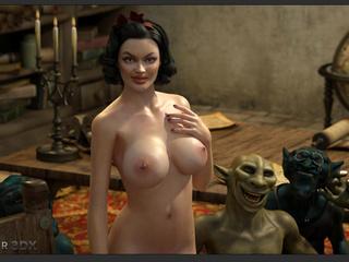 Big breasted 3D brunette enjoys brutal monster sex - Picture 4