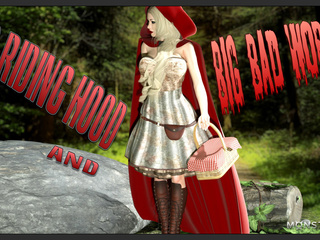 Sexy Little Red Riding Hood and a brutal 3D wolf - Picture 1