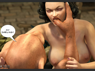 Godlike brunette gets tons of pleasure by 3D - Picture 3