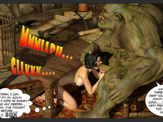 Muscled green giant hardly drills a slutty princess - Picture 4