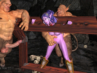 Purple 3D goddess nailed hard by the big monsters - Picture 4