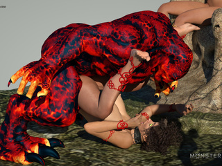 Redhead pixie gets nailed by the mighty volcano - Picture 6
