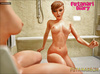 A sizzling futanari girl fucks her waif-like roommate in the shower.