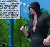 Two bonded 3D men with very massive muscled dick. Devil Incantation 1