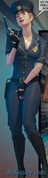 Leggy policewoman in tight uniform have big boobs. Devil Incantation 1