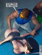Black guys are undressing two sexy policewomen. Devil Incantation 1 By