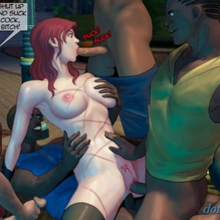 Brutal double penetration of a busty - BDSM Art Collection - Pic 1