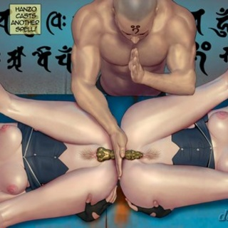 Brutal double penetration of a busty - BDSM Art Collection - Pic 4