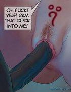 Big black dick impales a tight white pussy in close-up. Devil Incantation