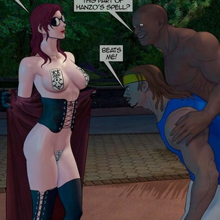 Outdoor interracial gangbang with a - BDSM Art Collection - Pic 2