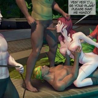 Outdoor interracial gangbang with a - BDSM Art Collection - Pic 3