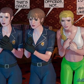 Policewomen are showing their naked - BDSM Art Collection - Pic 2