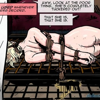 Brutal treats for a bonded big-boobed - BDSM Art Collection - Pic 2