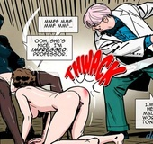 Professor spanks a slender girl in doggy style pose. Prison Horror Story