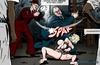 Busty helpless blonde is getting beaten hard. Prison Horror Story 8 By