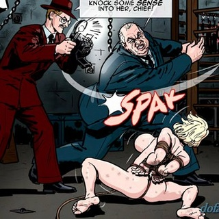Busty helpless blonde is getting beaten - BDSM Art Collection - Pic 3