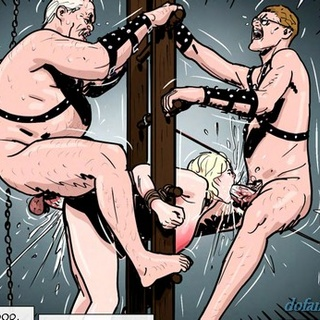 Blonde received a giant oral cumshot - BDSM Art Collection - Pic 3