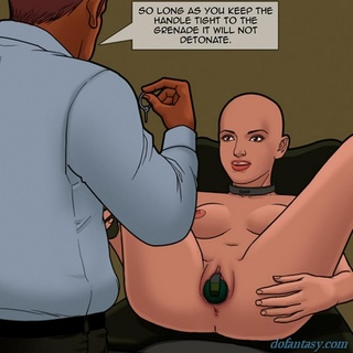 Bald girl with wide-opened pussy loves - BDSM Art Collection - Pic 4