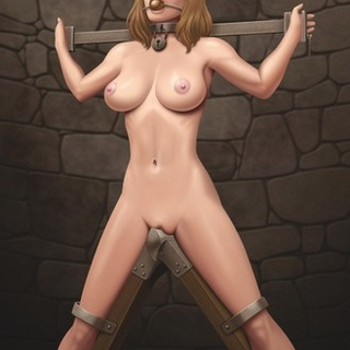 Gagged blonde with big boobs is waiting - BDSM Art Collection - Pic 2