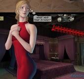 Leggy blonde in red dress is looking for sexual adventure. Brutal Earl
