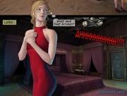 leggy rubias roja vestido