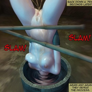 Blonde gets caned so hard so she starts - BDSM Art Collection - Pic 1