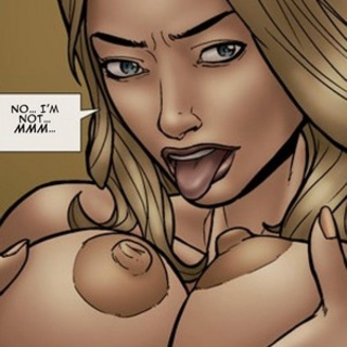 Blonde with massive round jugs licks - BDSM Art Collection - Pic 3