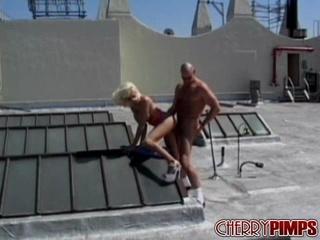 blonde skank load cum