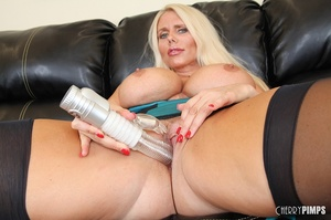 Drop-dead blonde cougar is teasing with  - XXX Dessert - Picture 13