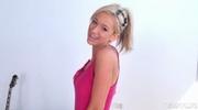 aroused blonde minx seen