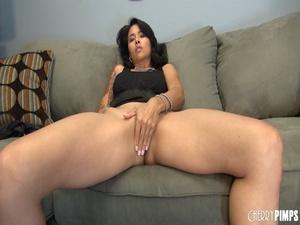 Fuckable brunette bimbo is seen teasing  - XXX Dessert - Picture 2